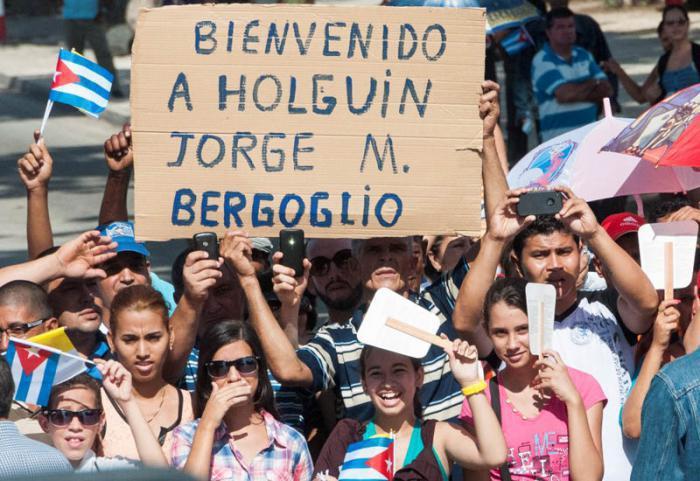 """Eine atheistische Begrüßung für den Papst: """"Willkommen Jorge Mario Bergoglio"""""""
