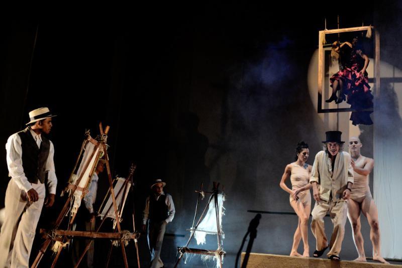 """Das Centro Nacional de Teatro brachte die Disziplinen Artistik, Theater, Zirkus, Tanz und Musik in dem Stück  """"Reverón: der Maler des Lichts"""" zusammen."""