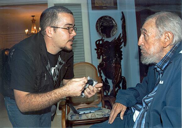 Randy Perdomo und Fiel Castro im Gespräch