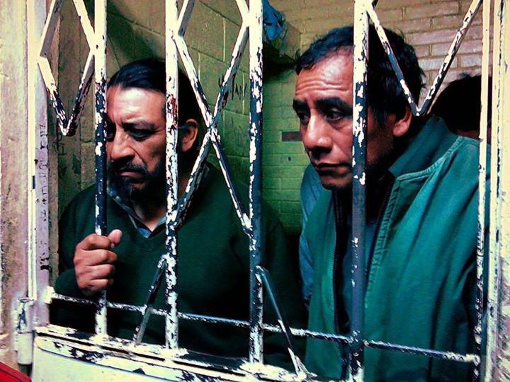 Die Mitglieder der Plurinationalen Regierung, Rigoberto Juárez Mateo und Domingo Baltazar, in einer Gefängniszelle in Guatemala-Stadt