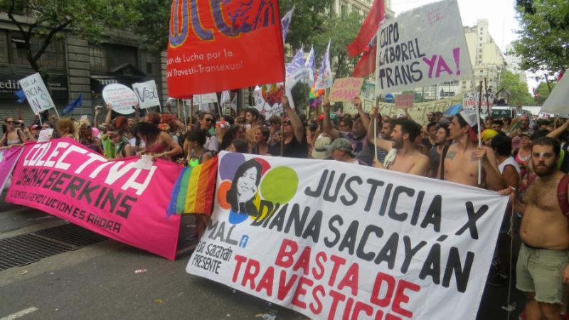 Auch LGTB-Gruppen forderten ihre Rechte ein