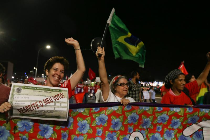 """""""Frauen für Demokratie"""" waren dabei und verlangten Respekt für das Votum der Bevölkerung bei den Präsidentschaftswahlen"""