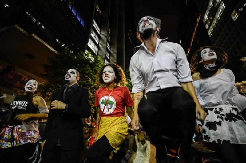 Aktivisten sozialer Bewegungen in Rio de Janeiro