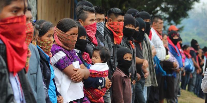 360 Delegierte von 32 indigenen Gruppen aus ganz Mexiko kamen in San Cristóbal de las Casas  mit der EZLN zum 5. CNI-Kongress zusammen