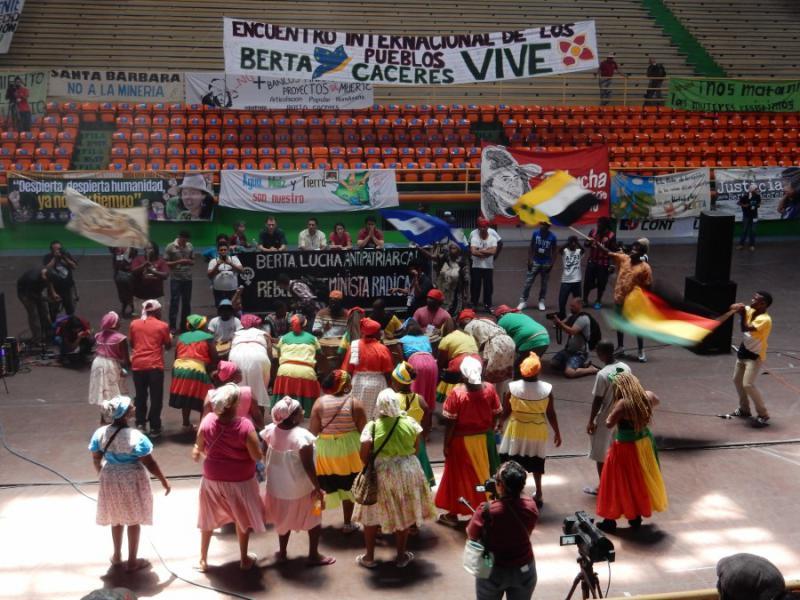 """Vom 13. Bis zum 15. April fand in der honduranischen Hauptstadt Tegucigalpa das internationale Treffen """"Berta Cáceres lebt"""" statt"""