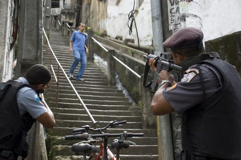 Militäreinsatz in der Favela Pavão-Pavãozinho im Süden Rio de Janeiros (14.10.2012)