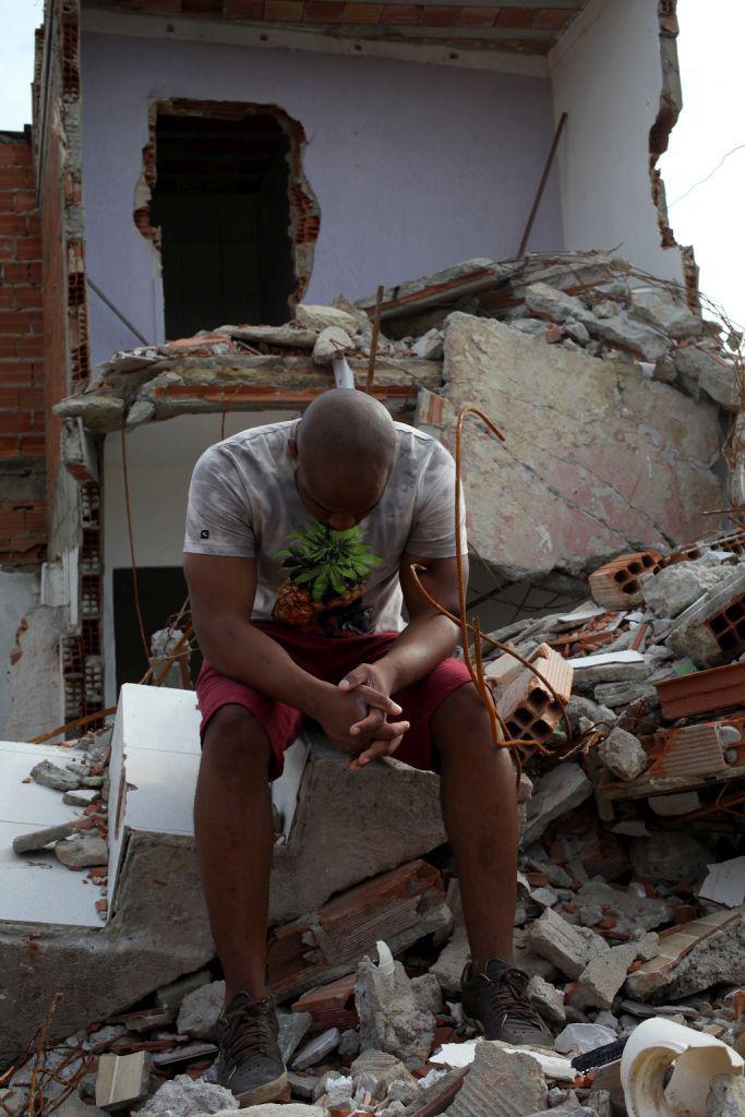 Abriss von Häusern in der Vila Autódromo, die in direkter Nachbarschaft der Baustellen des Olympiaparkes liegt (26.10.2015)