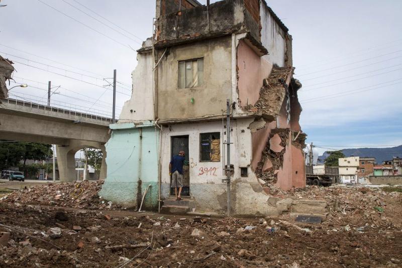 Das Viertel Beira Rio in Manguinhos leistet Widerstand gegen den Druck der Landesregierung (29.05.2013)