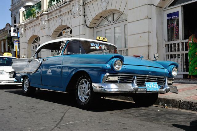 Privates Linientaxi in Kuba, auch sie sind in Kooperativen organisiert