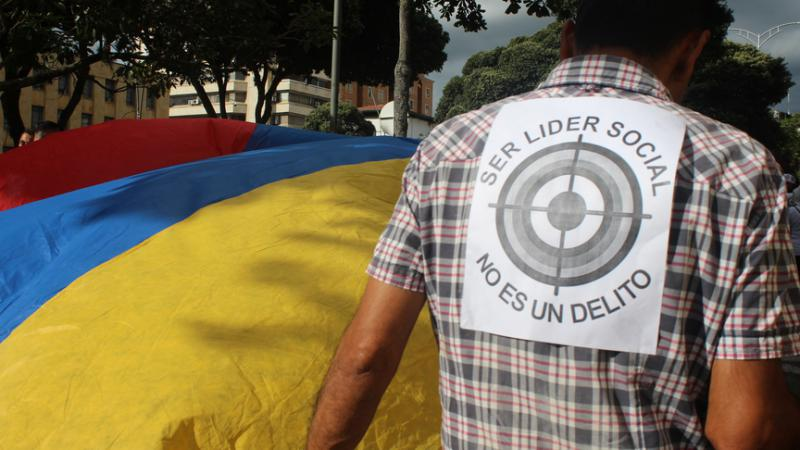 Die Gewalt und die tödlichen Angriffe auf soziale und politische Aktivisten nehmen in Kolumbien kein Ende