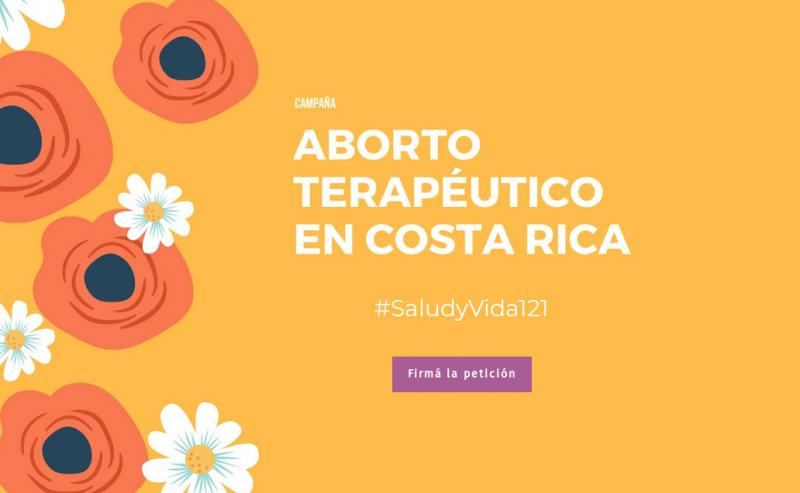 Kampagnenseite in Costa Rica für ein Gesetz zum therapeutischen Schwangerschaftsabbruch