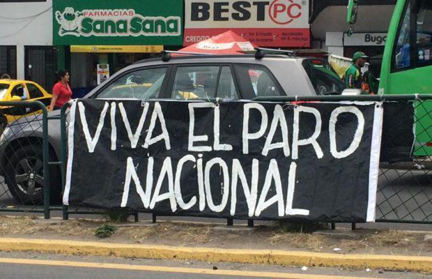 Landesweit protestieren Gewerkschaften und soziale Organisationen in Ecuador gegen die Regierung Moreno