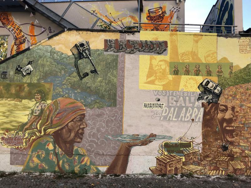 Wandbild in der Malmöer Straße 29