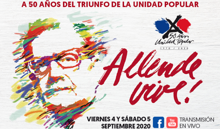 """Allende lebt"" war das Motto der Demonstration am 4. September in Santiago"