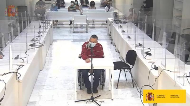 """Nach dem Urteil des spanischen Gerichts endgültig nicht mehr """"unschuldig"""" (inocente): Inocente Orlando Montano während seiner Gerichtsverhandlung"""