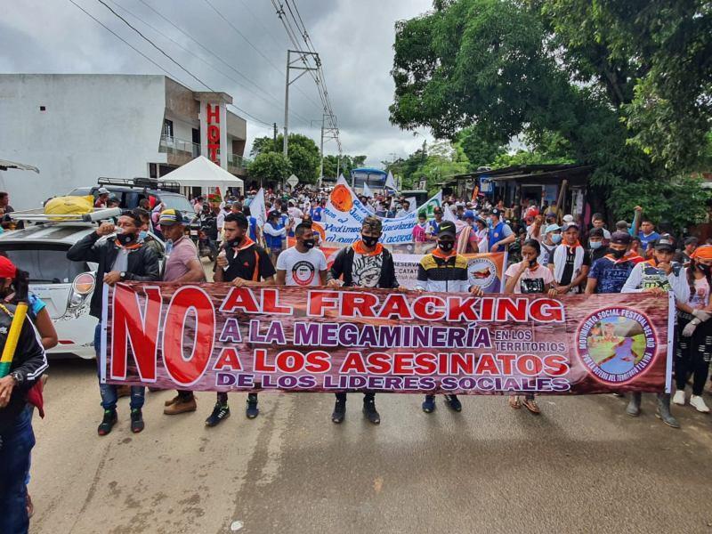 Landesweit protestierten Tausende Menschen, hier in Tibú, Catatumbo am 19. November