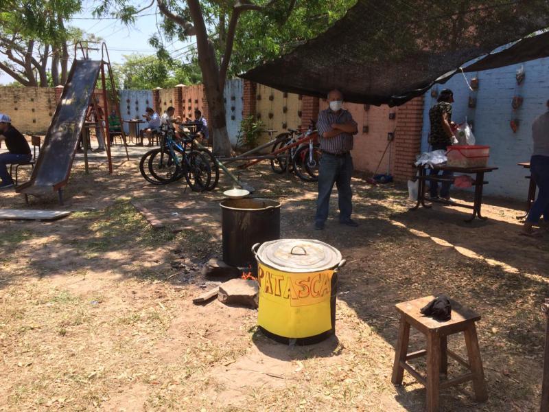 Wahllokal im Viertel Hamacas in Santa Cruz
