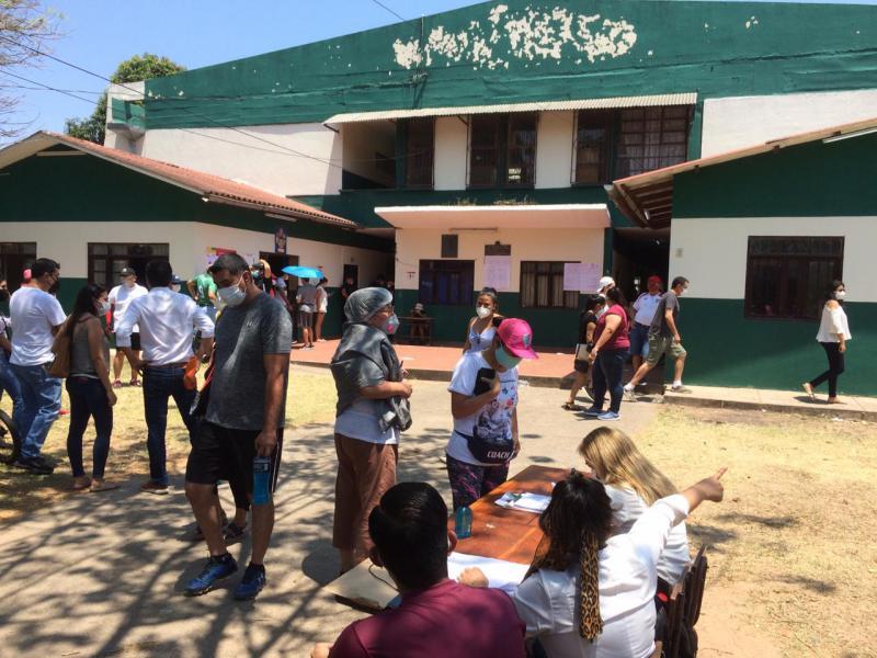 Wahllokal im eher popularen Stadtviertel Hamacas