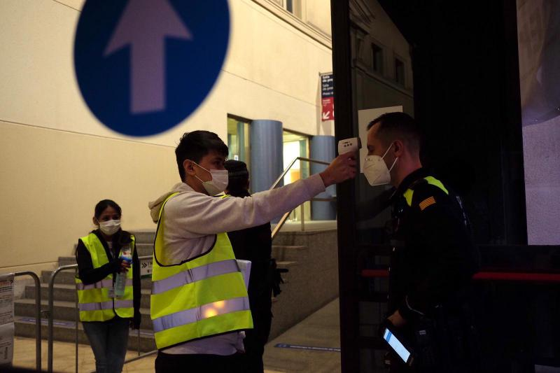 Wahl in Barcelona, Spanien, in Zeiten der Corona-Pandemie