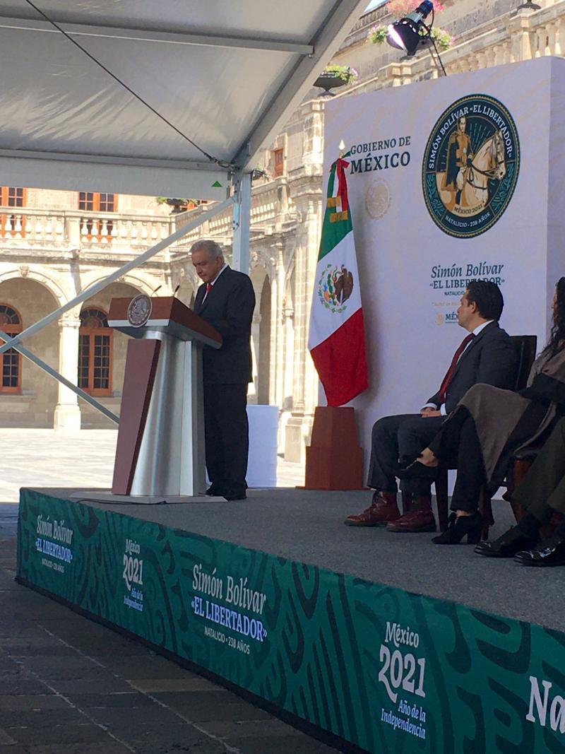 Der mexikanische Präsident bei der Eröffnungsrede auf dem Treffen der Celac-Außenminister