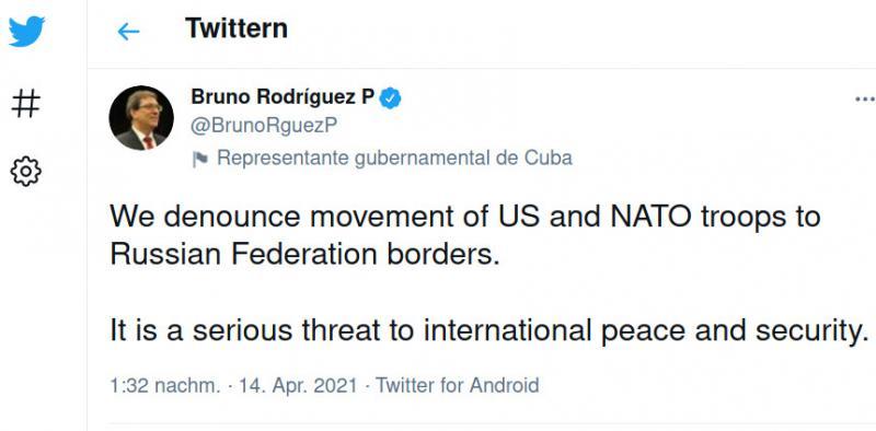 Tweet des kubanischen Außenministers