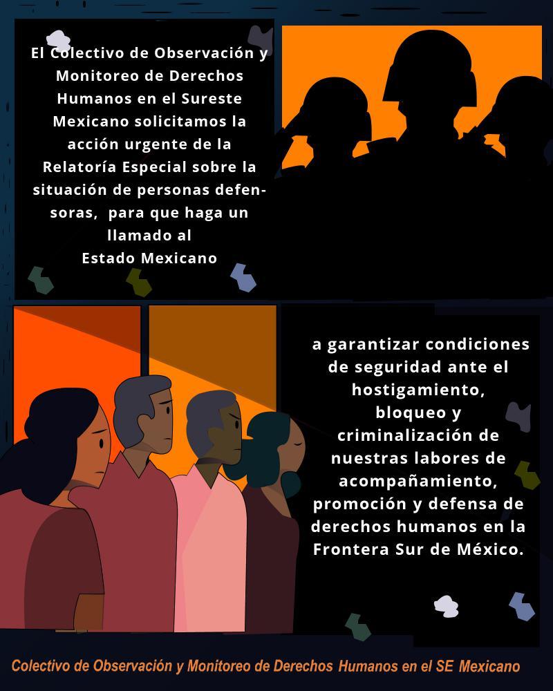 """Das """"Kollektiv zur Beobachtung der Menschenrechte im mexikanischen Südosten"""" richtete einen Appell an die UNO"""