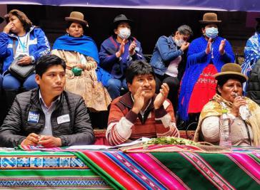Verantwortlicher der Wahlkampagne und Parteivorsitzender der MAS, Evo Morales, hat sein Ziel verfehlt