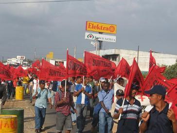 Protest der Bauarbeitergewerkschaft SUNTRACS (2007)