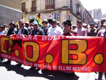 Protestmarsch in La Paz