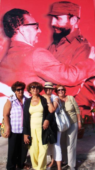 Die 4 kubanische Freundinnen auf der Buchmesse in Havanna (2009).