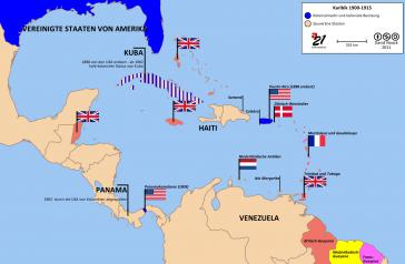 Haiti in der Karibik 1900-1915 (Karte: David Noack)