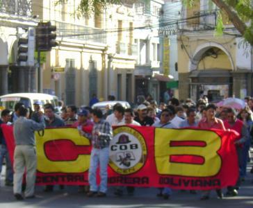 Proteste des Verbandes COB