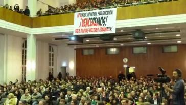 Die Rosa Luxemburg Stiftung vermittelte Treffen mit Studenten, Arbeitern, mit dem DGB und der Lehrergewerkschaft