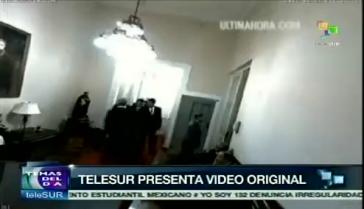 Telesur-TV präsentiert das Orginalvideo des Treffens