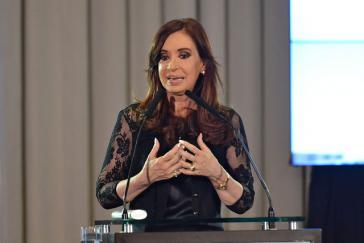 Cristina Kirchner bei einer politischen Veranstaltung im Juni dieses Jahres