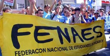 Die Vereinigung der Schüler der Sekundarstufe (Fenaes) hatte zu den Protesten aufgerufen
