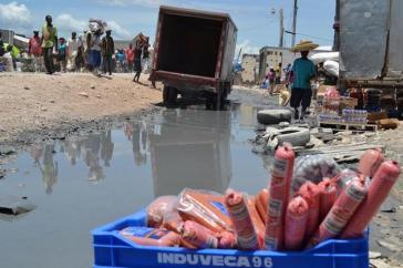 Der Grenzübergang zwischen der Dominikanischen Republik und Haiti
