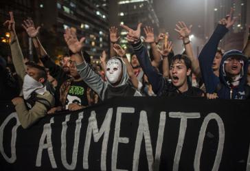 Demonstration gegen Fahrpreiserhöhungen und Polizeigewalt in São Paulo