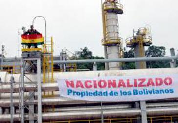 Von bolivianischem Militär im Mai 2006 besetzte Gas-Anlage