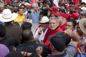 Xiomara Castro bei der Demonstration in Tegucigalpa am 1. Dezember