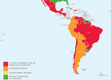 Die Gesetzeslage zu Schwangerschaftsabbrüchen in Lateinamerika ist sehr restriktiv