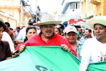 Der Abgeordnete der Partei LIBRE und Vorsitzende von Via Campesina in Zentralamerika, Rafael Alegría