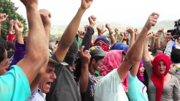 Proteste von kolumbianischen Bauern im Bundesstaat Catatumbo, Juli 2013