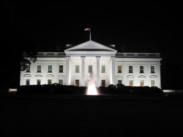 Das Weiße Haus in Washington, Amtssitz und offizielle Residenz des Präsidenten