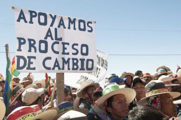 """""""Wir unterstützen den Veränderungsprozess"""" - Teilnehmer bei der Versammlung in Cochabamba"""