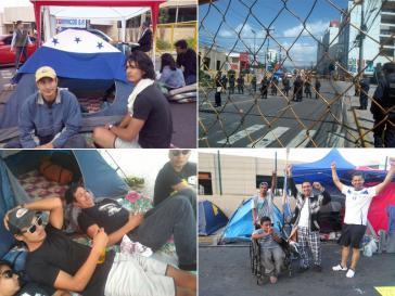 Die Gruppe der Hungerstreikenden vergrößert sich. Die Polizei hat das Zeltlager abgeriegelt und verweigert Journalisten den Zugang