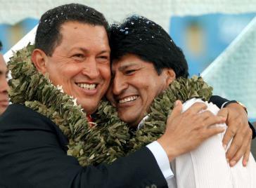 """Hugo Chávez und Evo Morales symbolisieren für Welt-Autorin Hildegard Stausbergt """"die Mesallianz aus Rassismus, Stiefeln und Nationalismus"""""""