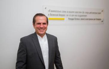 Der ecuadorianische Außenminister Ricardo Patiño in Moskau. Kommende Woche wird er Griechenland besuchen