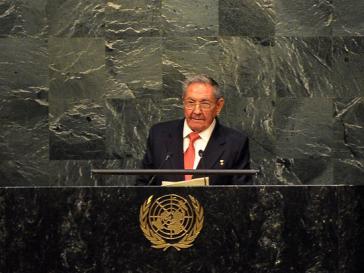 Raúl Castro bei seiner Rede vor der UNO-Generalversammlung