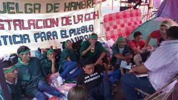 Eine Gruppe von Tolupan-Indigenen hat sich dem Hungerstreik angeschlossen